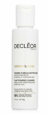 Decleor Aroma Cleanse CLAY POWDER CLEANSER Face Wash Combination Skin 41g • 14.99£