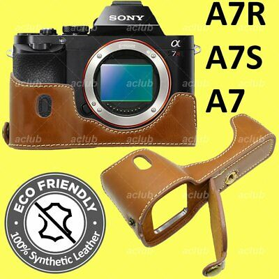 $ CDN26.02 • Buy Sony A7 A7R A7S ILCE-7 7R 7S PU Leather Half Case Cover - Brown