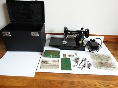 $400 • Buy Vintage 1956 Singer Featherweight Sewing Machine Model 221 W Box & Accessories