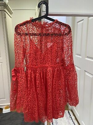 "AU109 • Buy Alice Mccall ""back To You"" Dress ,Red, Size 6"