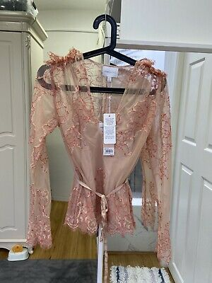 "AU120 • Buy Alice Mccall ""Let It Be "" Blouse, Nude Color,Size 6,RRP$290"