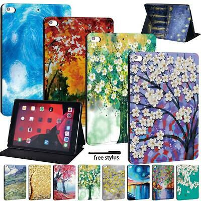 Leather Smart Flip Case Stand Cover For Apple IPad /Mini /Air /Pro Tablet + Pen • 9.99£