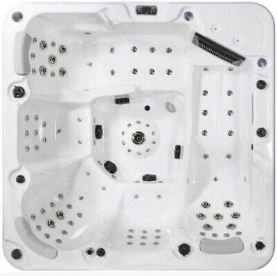 Luxury Hot Tub ⭐️100 Jets⭐️ 6 Person 32Amp Bluetooth White New Jet Stream Deluxe • 4,999£