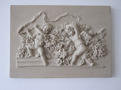 £9.75 • Buy   Beautifull Vintage French Country  Cherubs  Wall Plaque /furniture Diy.