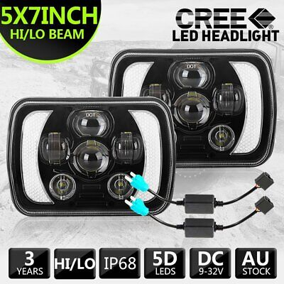 AU109.99 • Buy 7x6'' 5x7'' Inch LED Headlights HI/LO/DRL For 1983-2004 Toyota Hilux + Adapters