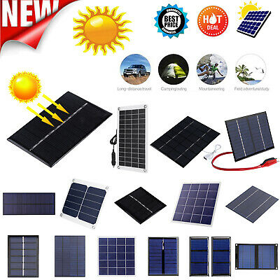 AU10.56 • Buy 1/5/12V Polycrystalline Solar Panel Silicon Solar Charger Controller Battery LOT