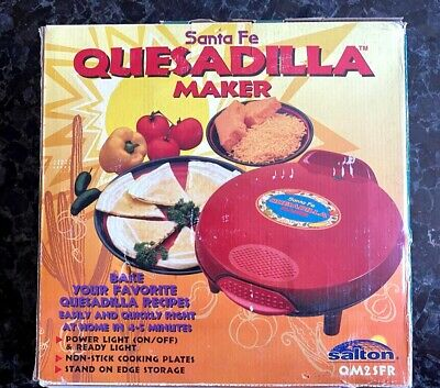 $25 • Buy Santa Fe Quesadilla Maker Power Light & NonStick Cooking Plates