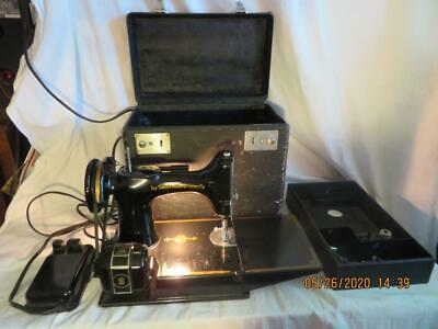$400.99 • Buy Singer 221 Featherweight Sewing Machine W/Attachments 1946 #AG869729 Works VTG
