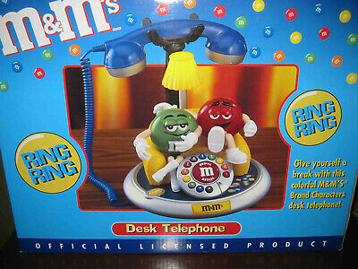 $39.99 • Buy M & M's Brand Collectible Desk Telephone With Light And Original Box