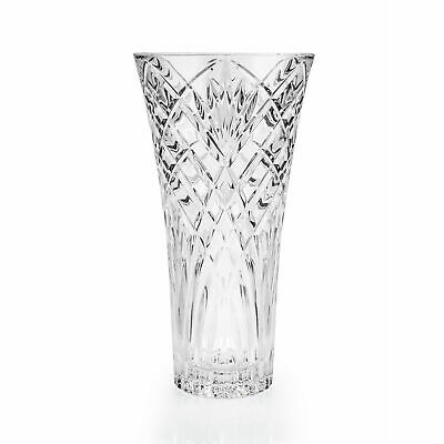 £17.45 • Buy RCR Melodia Crystal Glass Flower Vase 30cm Clear Table Decoration (25616020006)