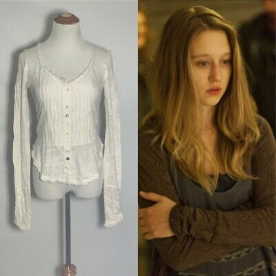 $ CDN100.22 • Buy FREE PEOPLE RARE Ivory Gypsy Button Front Cardigan S ASO VIOLET HARMON