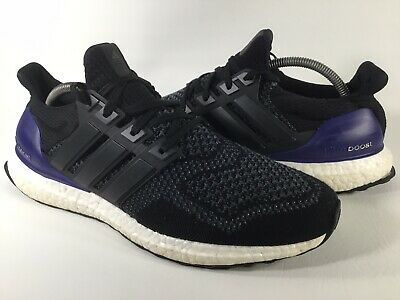 $120 • Buy Adidas Ultra Boost 1.0 OG Core Black Purple White Mens Size 10.5 Rare G28319