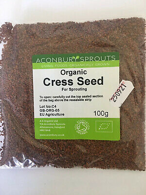 £2.99 • Buy Best Organic Cress Sprouting Seeds 100g Microgreens Sprouts