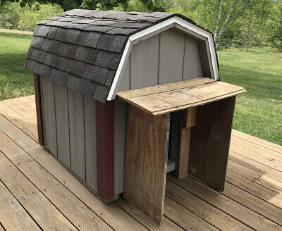 $225 • Buy Solid Amish Built Large Outdoor Dog House Box Shelter Heavy Grey Burgundy