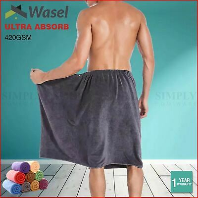 AU16.99 • Buy Wasel Microfibre Bath Towel Super Absorbent Travel Beach Cloth Car Drying Large