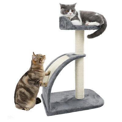 AU42.90 • Buy Cat Tree Sisal Scratching Post & Pad Scratcher Tower Condo House Furniture Wood