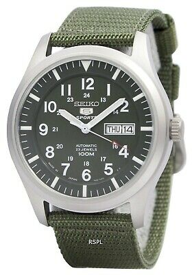 $ CDN205.95 • Buy Seiko 5 Military Automatic Sports Japan Made SNZG09 SNZG09J1 SNZG09J Men's Watch