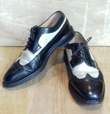 Classic Vintage Style Two-Tone Mens Loake Derby Brogues. Size 12 Uk • 100£