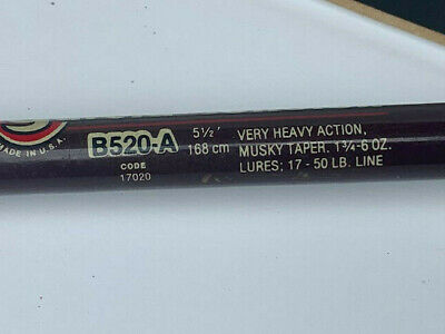 $49.95 • Buy B520-a Garcia Conolon 5 1/2' Very Heavy Action Musky Taper Fishing Rod  # 5520