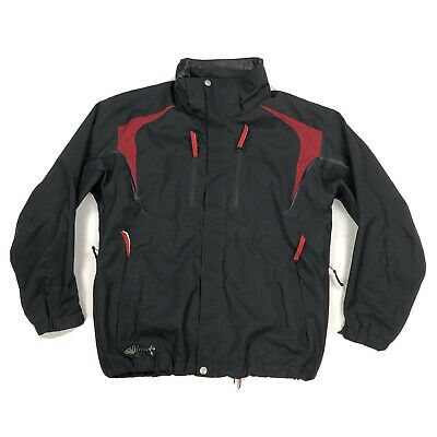$39.99 • Buy Descente DNA Men's Ski Snowboard Jacket Size M Medium Black Red Full Zip