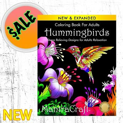 $8.99 • Buy Coloring Book Hummingbirds For Adults Stress Relieving 50+ Designs Artwork [NEW]
