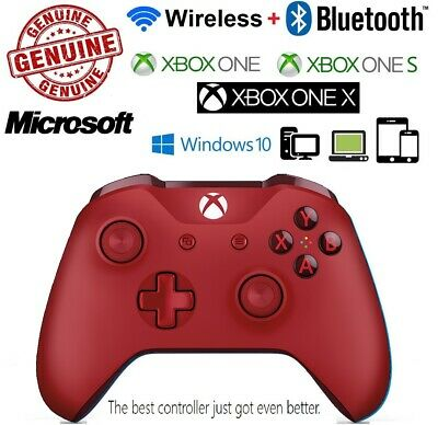 AU147 • Buy Genuine Microsoft Rare Red Colour Wireless Bluetooth Controller XBOX One S X
