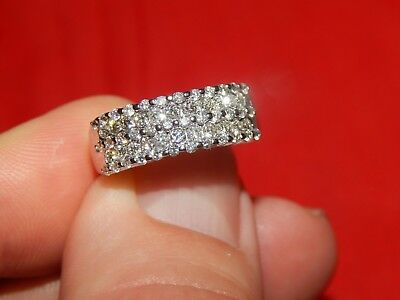 $495 • Buy 14k White Gold 1.00 Tcw Diamond Band Ring Very Good Quality Si-1 G Color Size 7