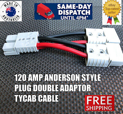 AU69.99 • Buy 120 Amp Y Adaptor Anderson Plug Connector Double 135 AMP 4 B&S Auto Tycab Cable