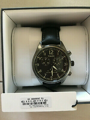$77 • Buy NWT Timex Waterbury Traditional Chronograph 42mm Leather Strap Watch