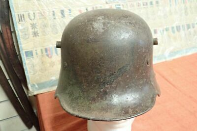 Original  Ww1 German  M16 Camouflage Steel Helmet  • 123£