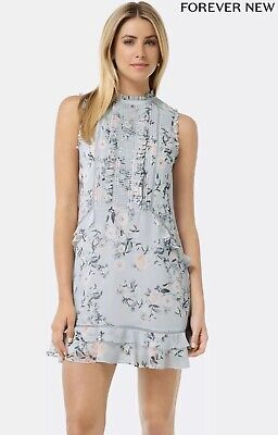 AU25 • Buy Forever New Floral Zimmerman Print Lace Detail Shift Dress Size 4