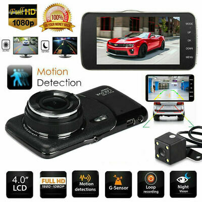 AU64.45 • Buy 1080P Dual Dash DVR Dashboard Car Camera Video Recorder With G-Sensor For GPS