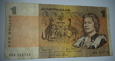 AU6.95 • Buy 0088 - Australian $1 Old Paper 1 Dollar Note With Recurring Serial No. Digits