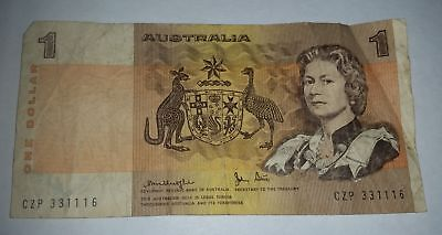 AU7.95 • Buy 33111 - Australian $1 Old Paper 1 Dollar Note With Recurring Serial No. Digit