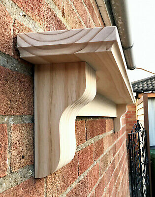 Unfinished Mantel Shelf With Corbels, Solid Pine Mantle, CHUNKY COVED STYLE • 148£