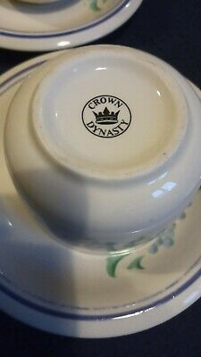 £19.99 • Buy Crown Dynasty  6 Cups And Saucers Sets.