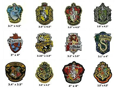 $4.87 • Buy Harry Potter Ravenclaw Gryffindor Hufflepuff Slytherin Hogwarts Iron On Patch