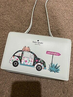 AU59 • Buy KATE SPADE 'out Of Office', Powder Blue Crossbody Wallet/Bag. NWT.