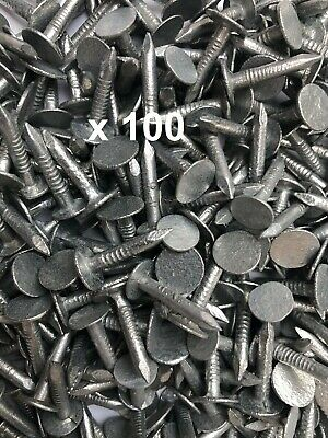 100 X GALVANISED CLOUT NAILS XL HEADS, SHED FELT • 3.99£