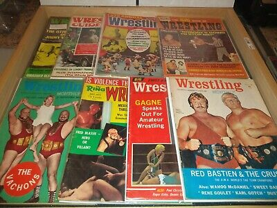 $17.95 • Buy  1972 Wrestling MAGAZINE LOT OF 8/  Ring/Monthly/Big Book/Annual + Covers+ Bags