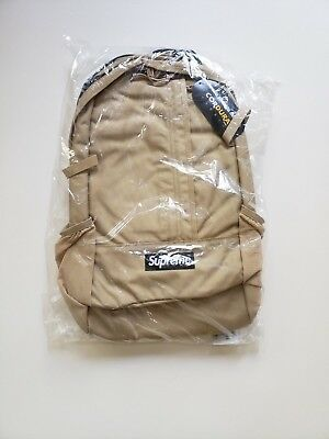 $ CDN345.54 • Buy 🔴 Supreme Backpack Tan Cordura Box Logo S/s 2018 Ss18 Ss 18 Isnt Waist Bag 🔴