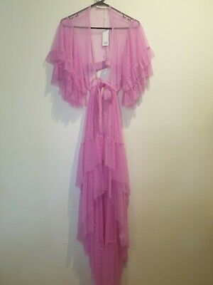 AU113.50 • Buy Spell Sample Tulle Fuschia Gown Dress Lace Zoe Rare
