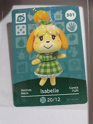 AU20 • Buy ANIMAL CROSSING AMIIBO CARDS SERIES 4 #301 Isabelle