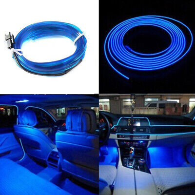 AU7.60 • Buy 6.5FT Blue LED Car Interior Decor Atmosphere Wire Strips Light Lamp Accessories