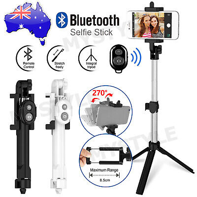 AU12.95 • Buy Monopod Selfie Stick Handheld Tripod Bluetooth Shutter For IPhone 11 Pro Samsung