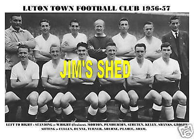 AU7.11 • Buy Luton Town F.c. Team Print 1956-57 (cullen/pearce/adam)