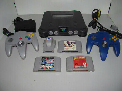 AU299.95 • Buy Nintendo 64 Console With 3 Games Two Controllers & Rumble Pak Tested & Working