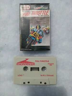 Vintage Sinclair ZX Spectrum Full Throttle By Micromega Game Cassette • 6£