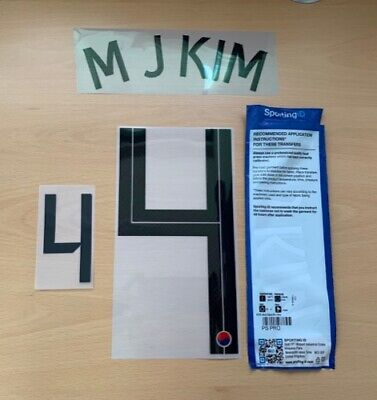 $22.50 • Buy Sporting ID Official Nike South Korea HOME Authentic Nameset M J KIM 4 2020/21