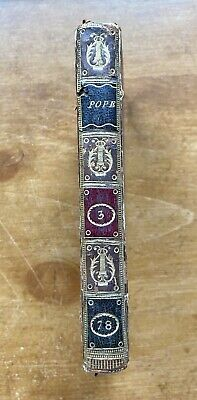 $90 • Buy Poetical Works Of Alexander Pope Book Vol 3 Full Leather Cover Poetry 1780